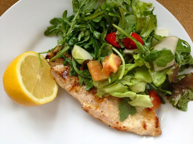 This classic Chicken Paillard with Arugula salad. Light, lean and ...