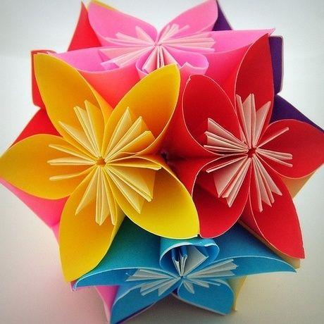 Поделка своими руками цветок из бумаги