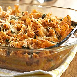 Cheese Baked Ziti with Spinach- this is very good. I made it this ...