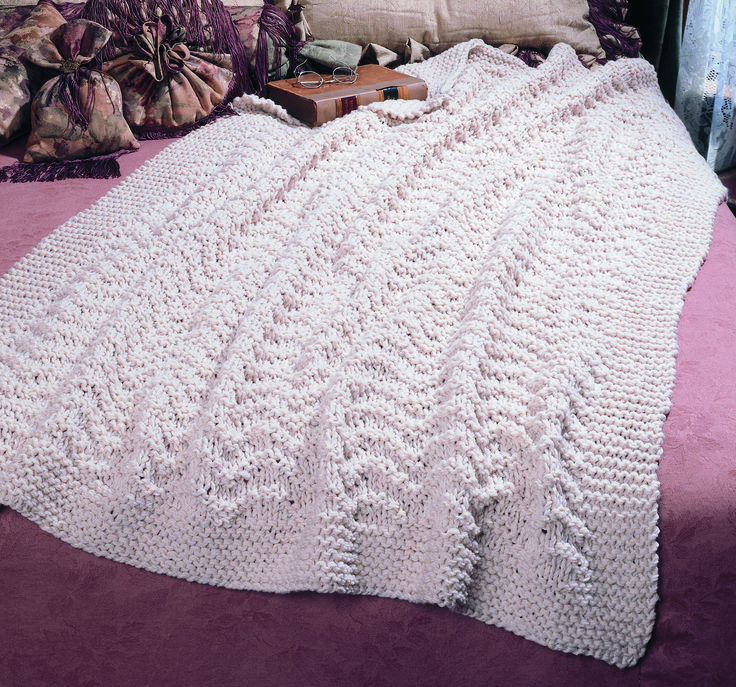 Quick And Easy Knitted Afghan Patterns : Blissful Afghan easy knitting pattern Craft ideas ...
