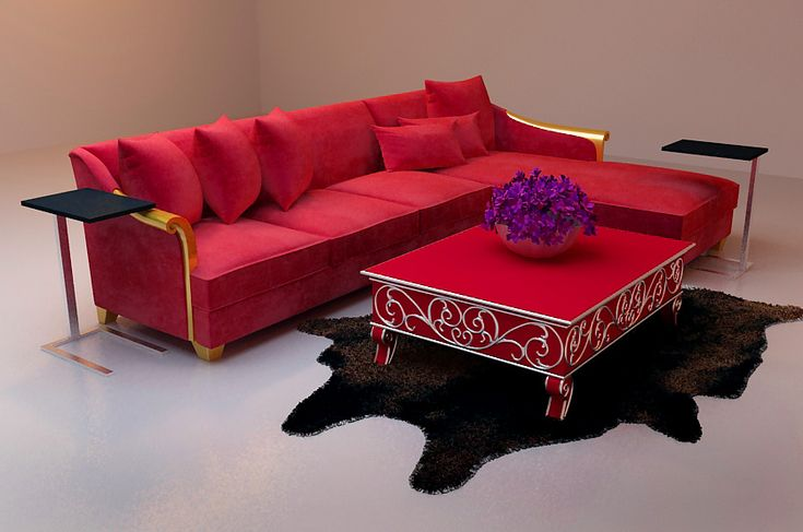 red sofa and coffee table decor diy inspiration red