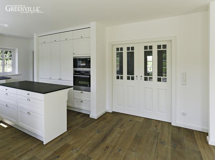 offene weisse k che k che pinterest. Black Bedroom Furniture Sets. Home Design Ideas