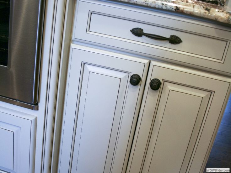Paint glaze white kitchen cabinets projects pinterest for Glazed white kitchen cabinets pictures