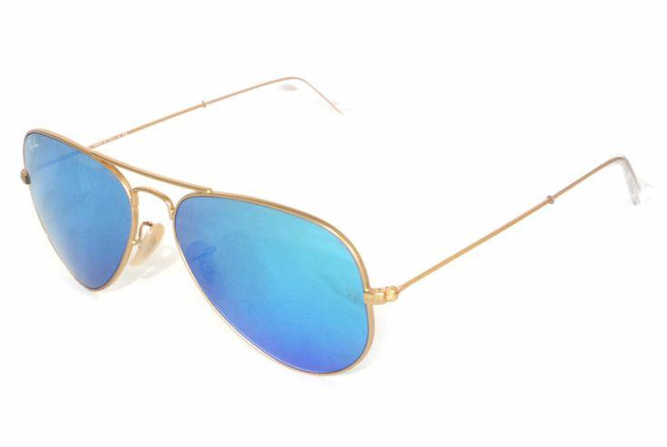 Ray Ban Aviator Blue Lens Gold Frame