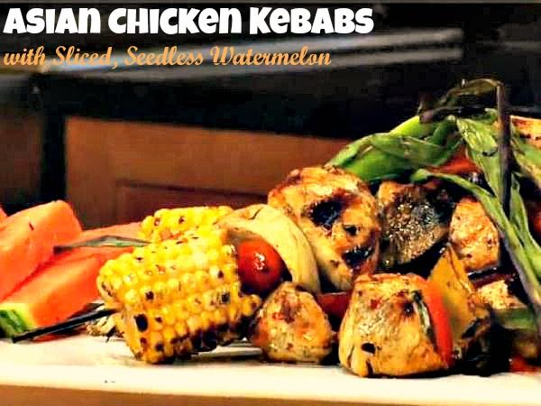 These Grilled Asian Chicken Kebabs are perfect for summer, served with ...