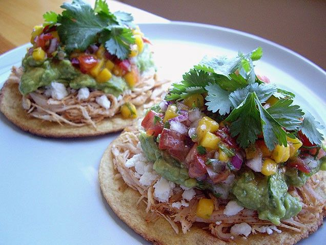Rotisserie Chicken Tostadas | Yummy Food Treats! | Pinterest