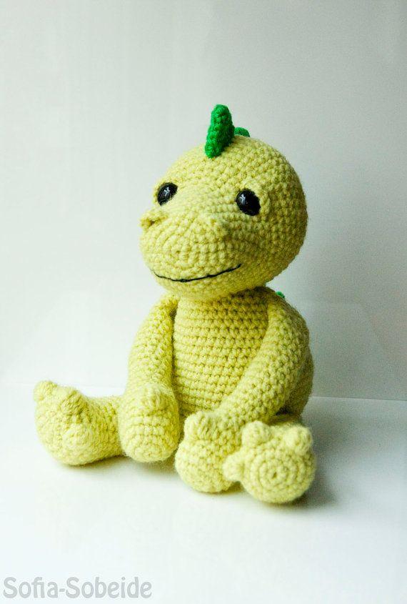 Amigurumi Dinosaur : Amigurumi dragon dinosaur pattern crocheted soft toy plush ...