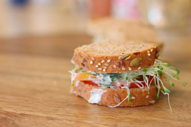 Heirloom Tomato and Avocado Sandwich with Creamy Herb Dressing ...