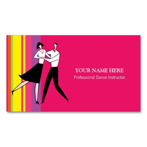 ... this: dance teacher , business card templates and card templates