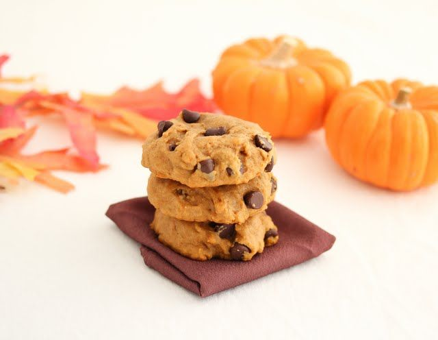 Soft Pumpkin Chocolate Chip Cookies | Yummy Food | Pinterest