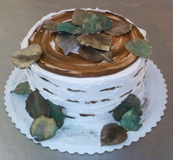 Aspen cake with chocolate leaves | FANCY -n- FUN FOODS | Pinterest