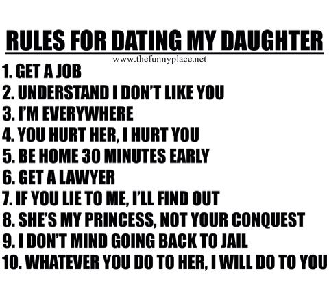 rules for dating my daughter feminist dad Here's a dad's rules for dating my daughter done right:.