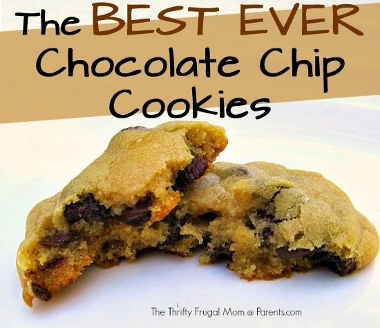 The BEST EVER Chocolate Chip Cookies | Yummy Desserts | Pinterest
