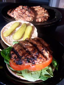 Grilled Honey Mustard Turkey Oat Burgers | Gluten Free | Pinterest