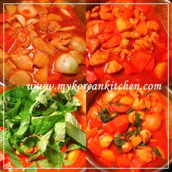 Spicy Chicken & Vegetable Stew (Dakdoritang in Korean?) - My Korean ...