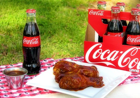 baked drumsticks with Coca Cola barbecue sauce