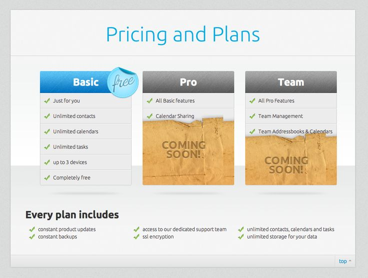 website design plans and pricing