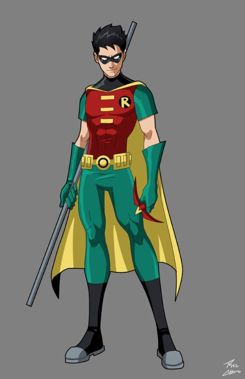 Robin superhero drawing