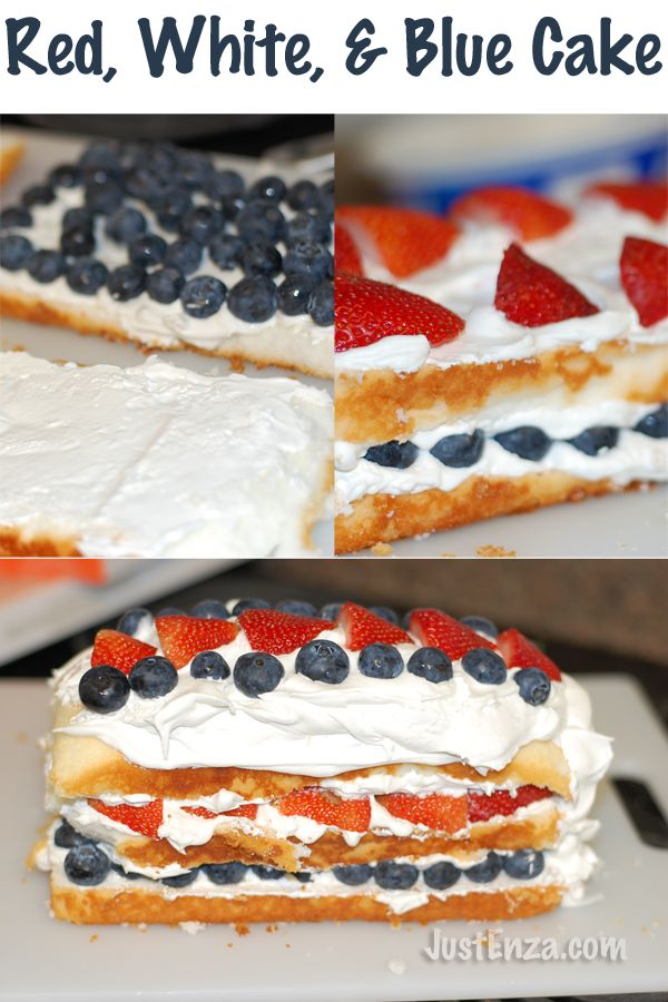 Red, White, and Blue Patriotic Angel Food Cake Loaf. VERY yummy Recipe ...
