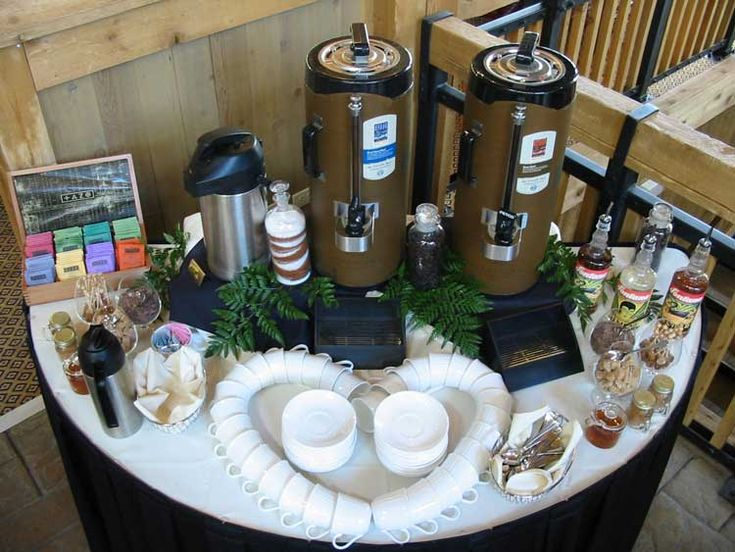 setting up coffee station party invitations ideas