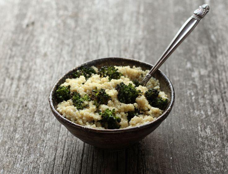 cheesy quinoa w/ roasted broccoli • reclaiming provincial