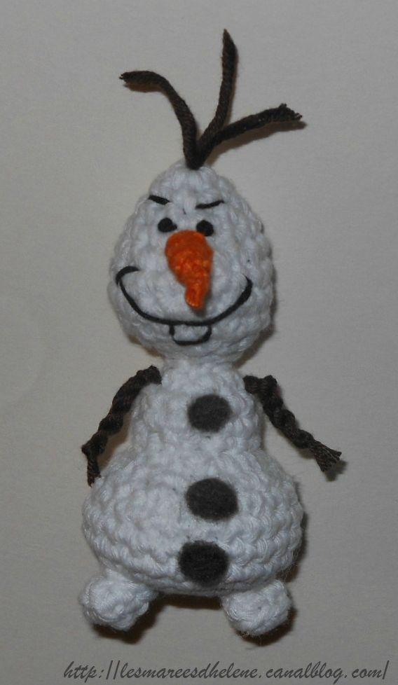 Crochet Doll Cradle Purse Pattern : #Olaf Reine des neige #crochet #free # pattern #tuto # ...