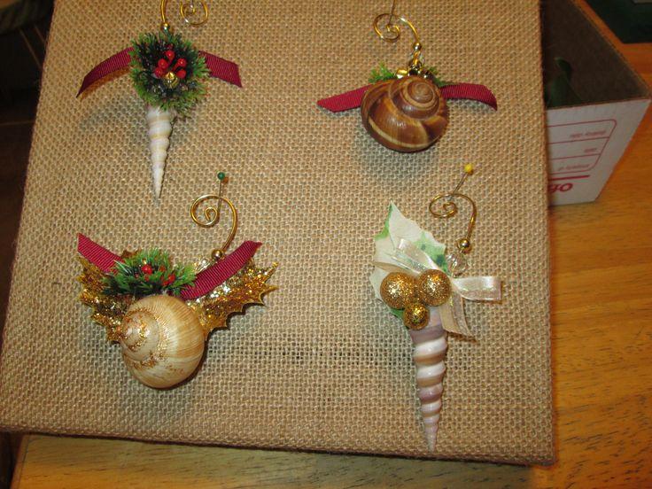 Pin by judi phillips on christmas pinterest for Seashell ornaments diy