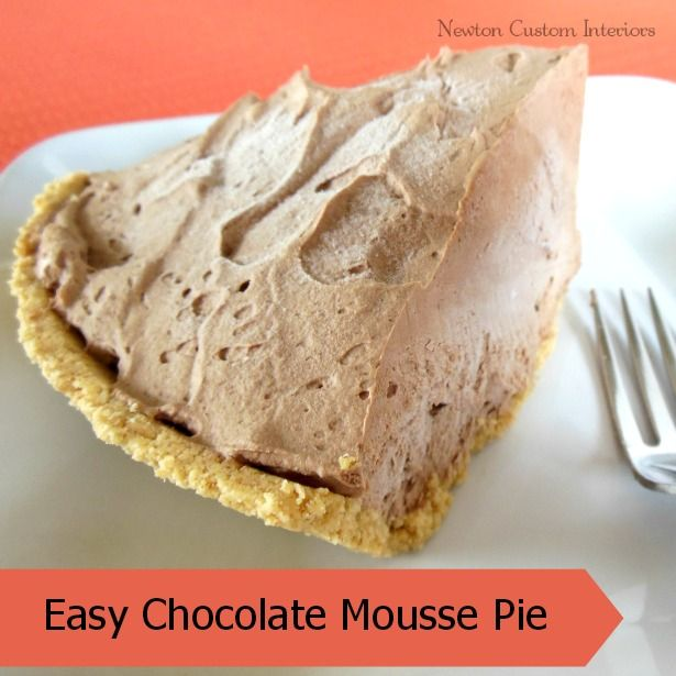 There's nothing more delicious than this frozen chocolate mousse pie ...