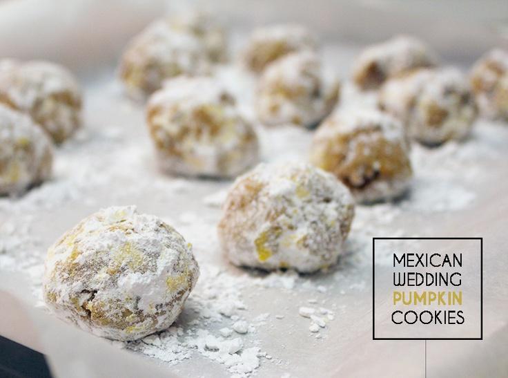 Mexican-Pumpkin-Wedding-Cookies. Omgosh, omgosh....can't wait to try ...