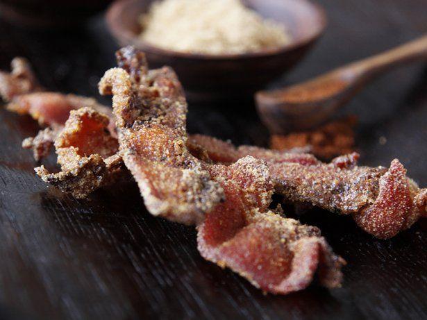 Spicy Cornmeal-Crusted Bacon   Recipe
