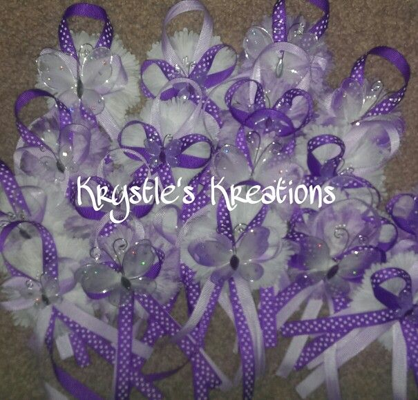 purple butterfly baby shower capias pins for guests baby shower