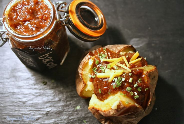 Slow Cooker Bacon Jam Jacket Potatoes {Guest Post}