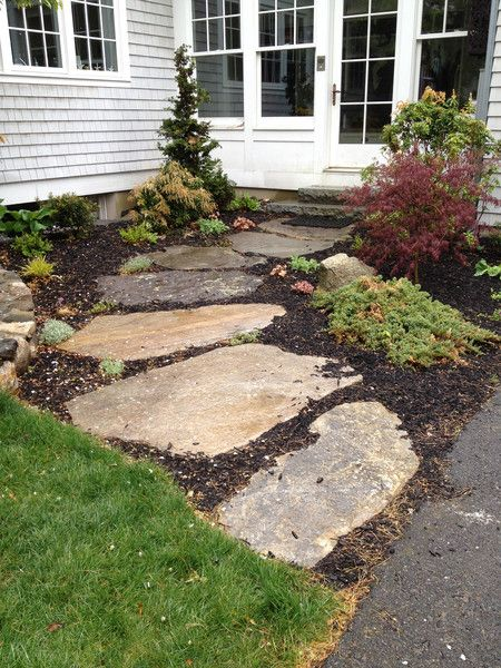 Huge stepping stone walkway - Stepping stones for walkways ...