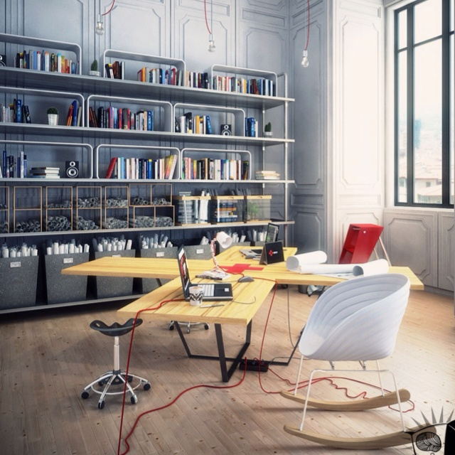 Cool Office Space Home Design Pinterest