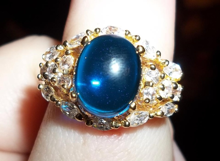#rings #jewelry #DiamondCandles What an awesome stone! Like this pin if you love blue stones in your rings.