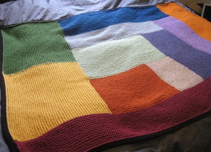 log cabin baby blanket knitting Pinterest