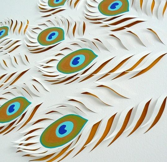 Peacock paper art - photo#15