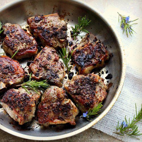 Lamb tfumami-rich crust for lamb. I use a food processor to blitz the ...