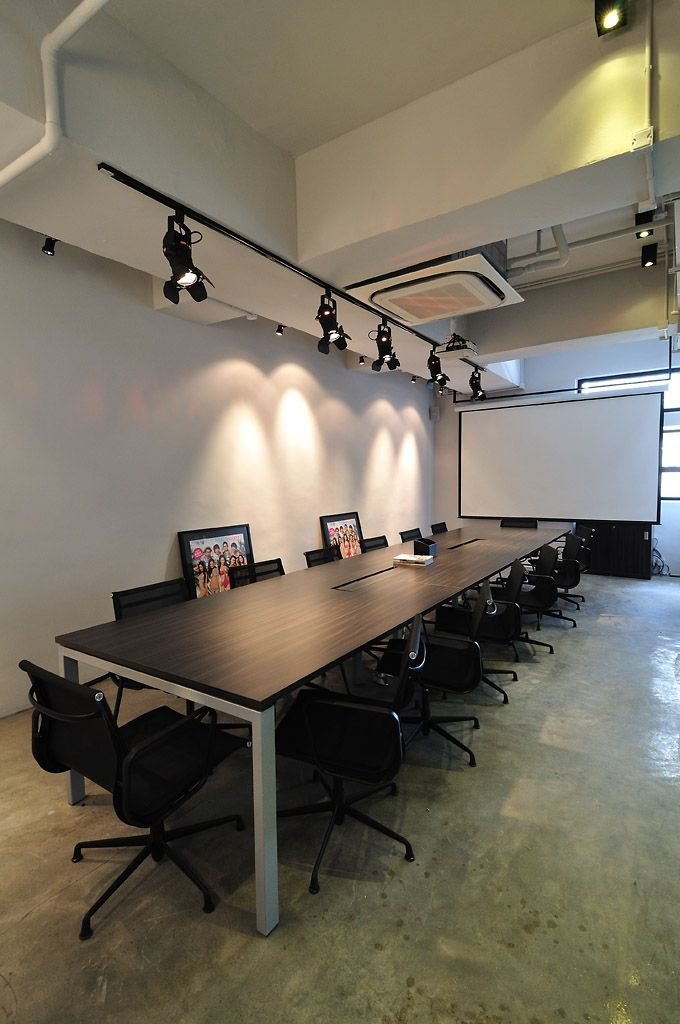 Cool raw office design conference room new firstmark for Cool office designs