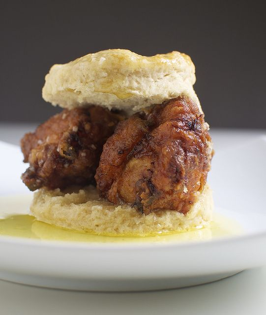 Fried Chicken, Honey Butter, And Biscuit Sandwiches Recipe ...