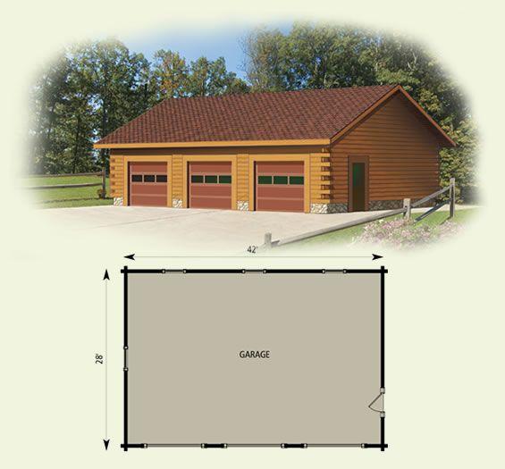 28 garage log home and log log cabin garage log for Cabin floor plans with garage