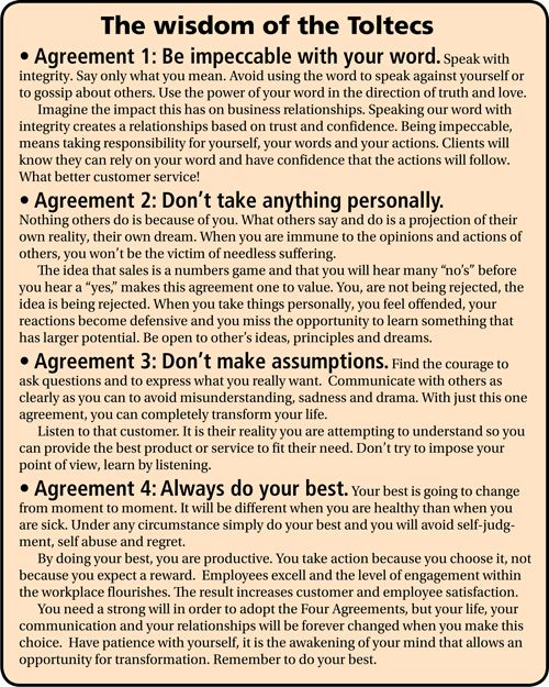 The Four Agreements Quotes Business Quotesgram