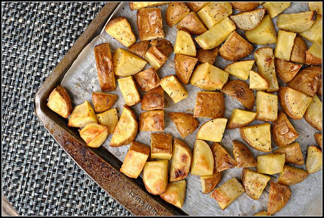 Salt and Vinegar Roasted Potatoes | I love food | Pinterest