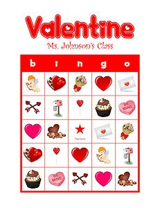 valentine bingo game printable