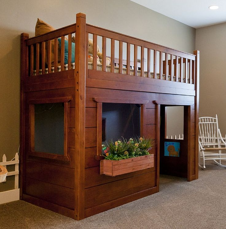 Classic Wood Loft Bed, need someone to make this for Kenda. Dad???