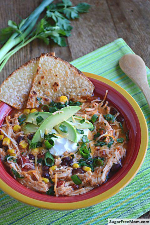 Crock Pot Chicken Enchilada Soup | Recipe