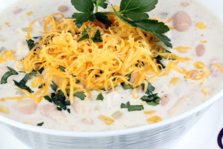 White Chicken Cream Cheese Chili Recipe | Recipes | Pinterest
