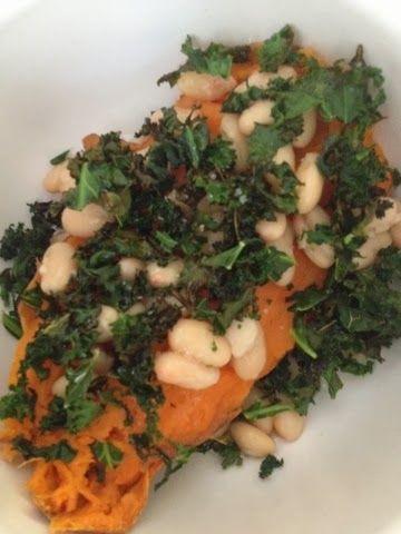 Sweet Life Kitchen: Sweet Potato w White Beans & Kale