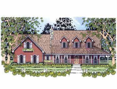 Home Plans HOMEPW15636 - 1,782 Square Feet, 3 Bedroom 2 Bathroom Cottage Home with 2 Garage Bays