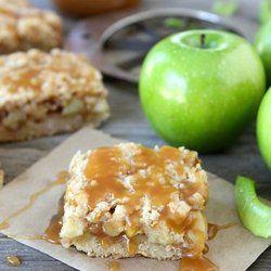 Salted Caramel Apple Crumb Bars — Punchfork
